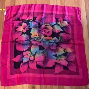 "36"" Square 100% Silk Hand Painted Batik Scarf"